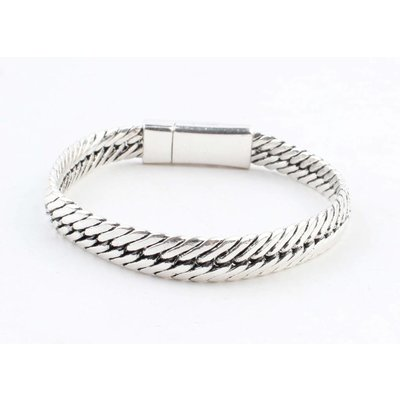 "Bracelet "" Gaia"" shiny silver"