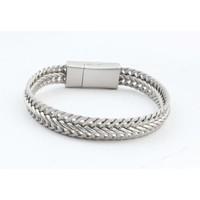 """Armband """"Nisa"""" mat zilver"""