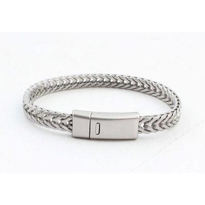 """Armband """"Milena"""" mat zilver"""