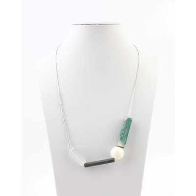 """Necklace """"Modern art"""" turquoise"""