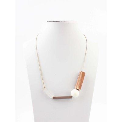 """Necklace """"Modern art"""" gold"""