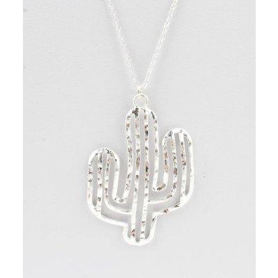 """Lange Halskette """"Kaktus"""" silber"""
