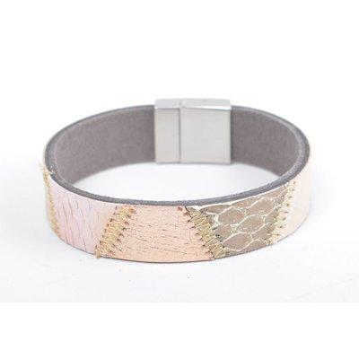 "Bracelet leather "" Kamila "" pink"
