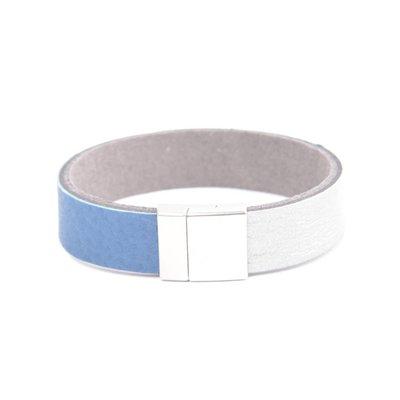"Bracelet leather "" Kamila "" blue"