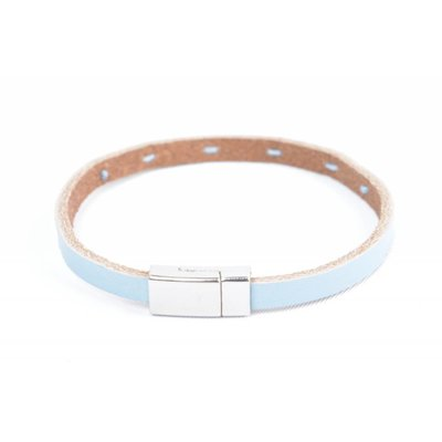 "Bracelet leather "" Aster "" blue"