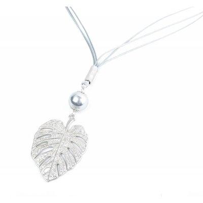 """Necklace """"Leaf"""" grau"""