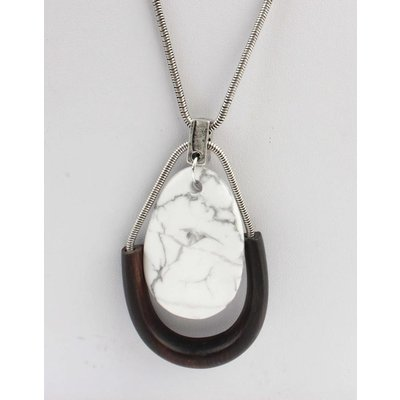"""Long necklace """"Sien"""" silver"""