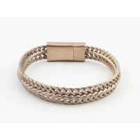 "Armband ""Nisa"" matt gold"