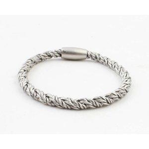 """Armband """"Siara"""" mat zilver"""