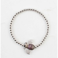 """Armband """"Insect"""" zilver"""