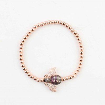 """Bracelet """"Insect"""" rosé"""