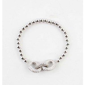 """Armband """"Luxury"""" zilver"""