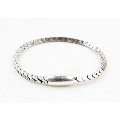 """Armband """"Irina"""" shiny zilver"""