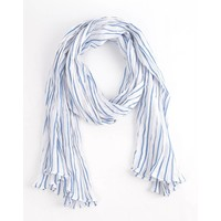 "Scarf ""Classic stripes"" denim"