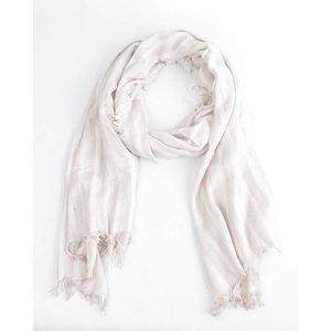 """Sjaal """"3 strepen"""" roze"""