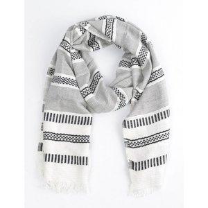 """Sjaal """"Aztec"""" zwart/wit"""