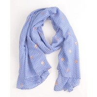 "Scarf ""Metallic"" blue"