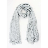 "Scarf ""Small wave"" grey"
