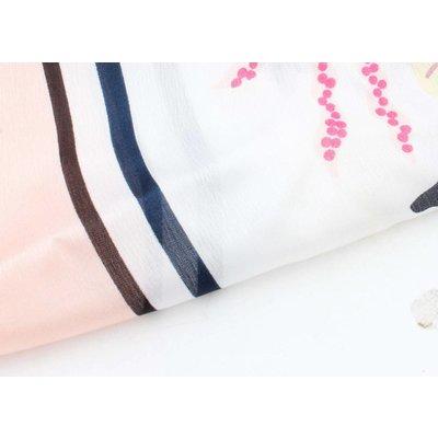 """Zijdelook sjaal """"Porto"""" roze"""
