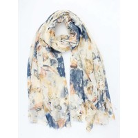"Scarf ""Cloudy flower"" yellow"