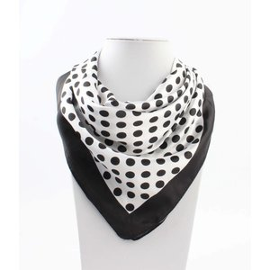"Bandana ""Small dots "" white/black"