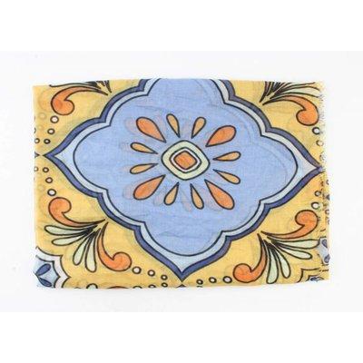 """Schal """"Space flower"""" blau"""