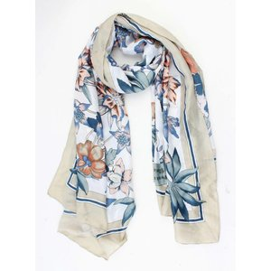 "Scarf silk look ""Rome"" kakhi green"
