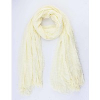 """Scarf """"Small wave"""" yellow"""