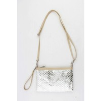 "Clutch ""Braided"" silver"