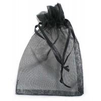 Organza bag black 7x9cm VE50