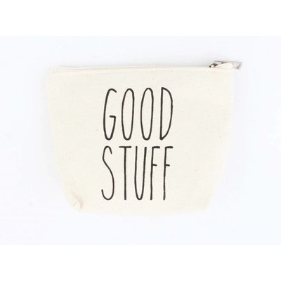 "Make up bag ""Good stuff"" off white"