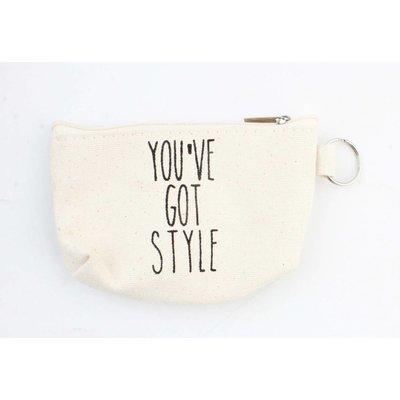 """Schlüsselanhänger Tasche """"You"""" Ve got Style """"weiß"""