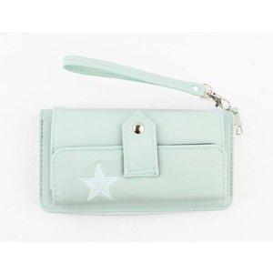 "Wallet ""Star"" mint green"