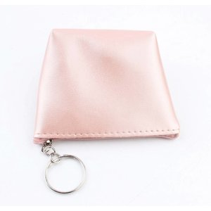 "Portemonnee sleutelhanger ""Glanzend"" roze"