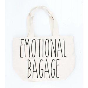 """Breite Shopper """"Emotional bagage"""" weiß"""