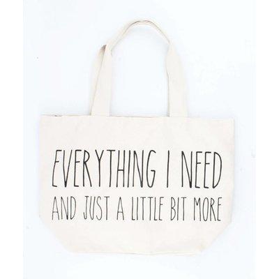 """Shopper """"Everything I need"""" creme wit"""