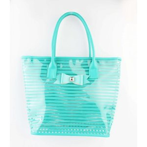 "Shopper ""Strik"" turquoise"
