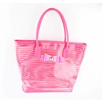 "Shopper ""Bow"" fuchsia"