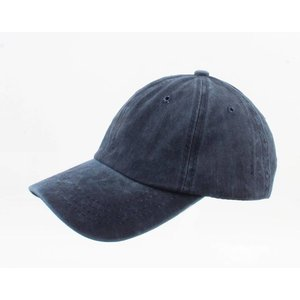 "Kap ""Washed Denim"" dunkelblau"