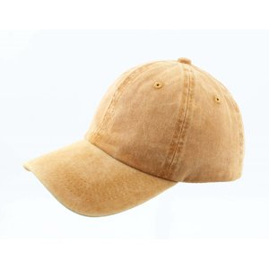 "Cap ""Washed denim"" yellow ochre"