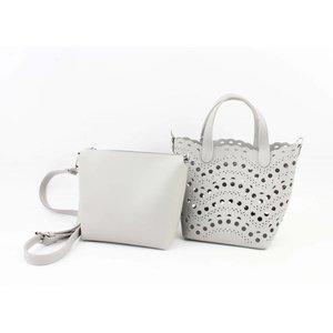 """Handbag """"Laser cut"""" gray"""