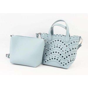 """Handbag """"Laser cut"""" blue"""