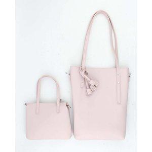 """Shopper """"Tassel"""" roze"""