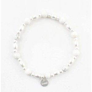 """Bracelet """"Love"""" marble white"""