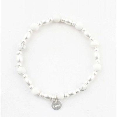 "Armband ""Love"" marmor weiß"