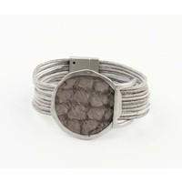"""Armband """"Kiana"""" grijs"""