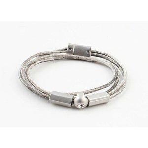 """Armband """"Ebenezer"""" vintage grau"""