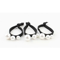 """Hair elastics """"Pearls"""" black, per 3pcs."""