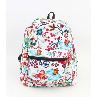 "Backpack ""Flowers"" white"