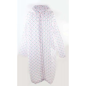 "Rain jacket ""Coloured dots"" white"